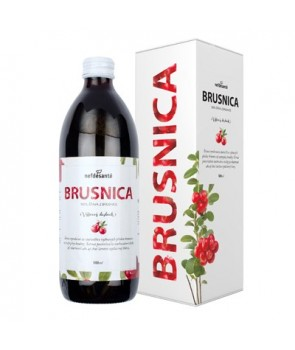 Brusnica, 100 % šťava z brusnice 500 ml
