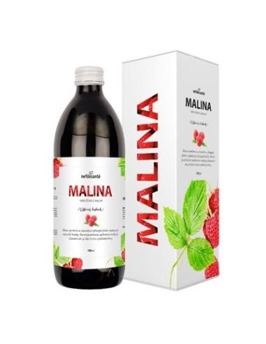 Malina, 100 % šťava z plodov maliny